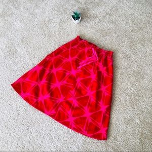 H&M red/pink skirt/size4/linen
